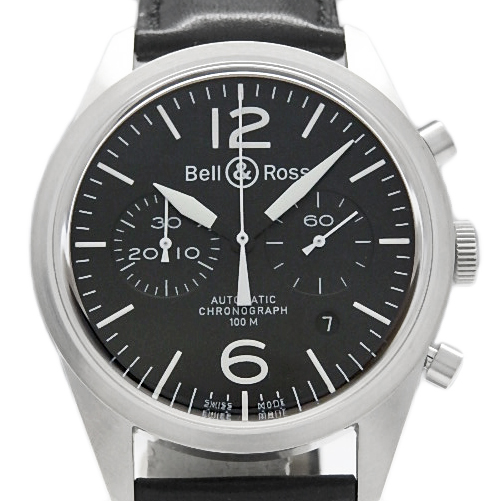 【DS KATOU】 Bell&Ross ベル&ロス ヴィンテージ BR126-94 クロノグラフ オートマ メンズ 黒文字盤 【中古】