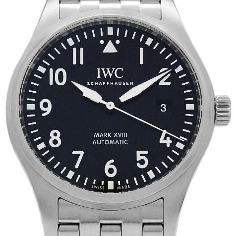 【DS KATOU】 IWC パイロットウォッチ MARK XVIII マーク18 IW327011 メンズ オートマ 黒文字盤 【中古】