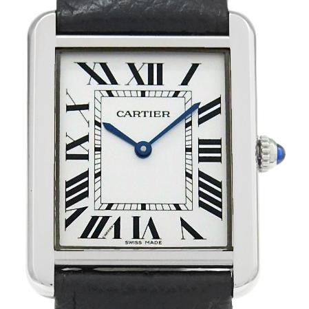 【DS KATOU】 Cartier カルティエ タンクソロ LM  WSTA0028 メンズ クォーツ シルバー文字盤  【中古】