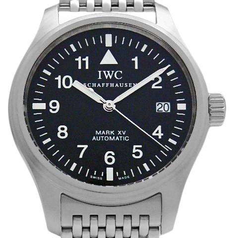 【DS KATOU】 OH済み IWC パイロットウォッチ MARK XV マーク15 IW325302 メンズ オートマ 黒文字盤 【中古】