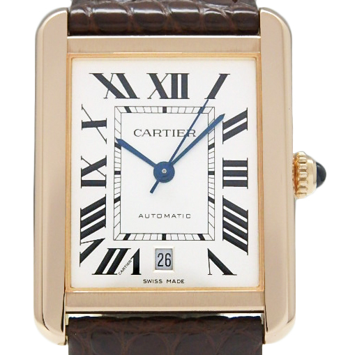 【DS KATOU】 K18PG/SS Cartier カルティエ タンクソロ XL W5200026 メンズ オートマ シルバー文字盤  【中古】