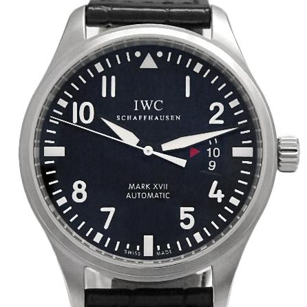 【DS KATOU】 IWC パイロットウォッチ MARK XVII マーク17 IW326501 メンズ オートマ 黒文字盤 【中古】