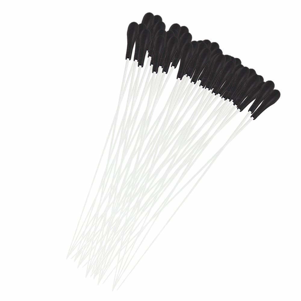 100本入 指揮棒 タクト ミュージカルバトン 合唱/交響楽団用 ABS&ガラス繊維製 15インチ ホワイト&ブラック