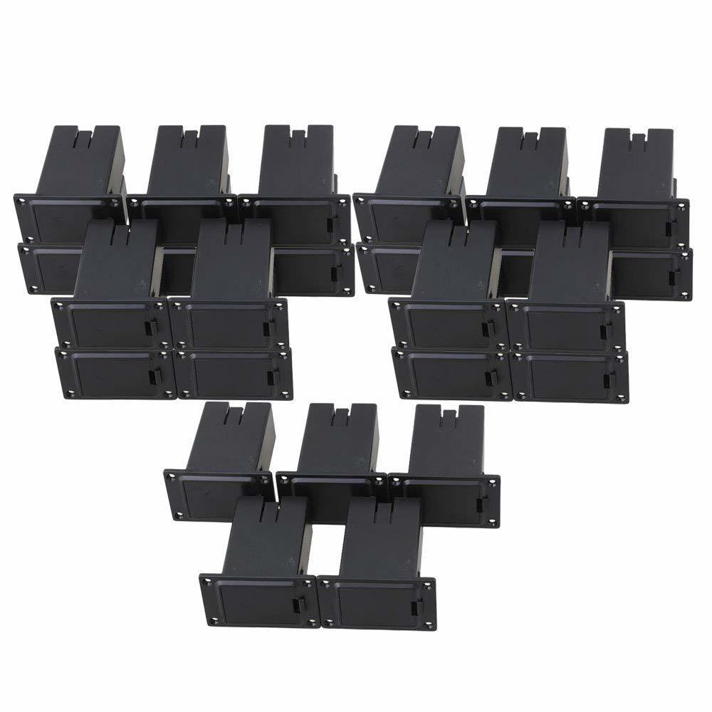 25個入 バッテリーケース 9V電池ボックス エレキギター用 定番の人気シリーズPOINT ポイント 入荷 プラスチック製 レビューを書けば送料当店負担 ブラック 交換