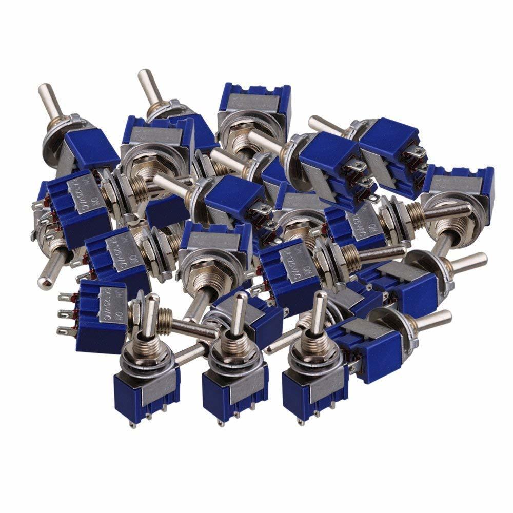 40個入 全商品オープニング価格 トグルスイッチ ライト 安心の実績 高価 買取 強化中 モーター用 2ポジション ブルーシルバー AC125V 3ピン 6A ON