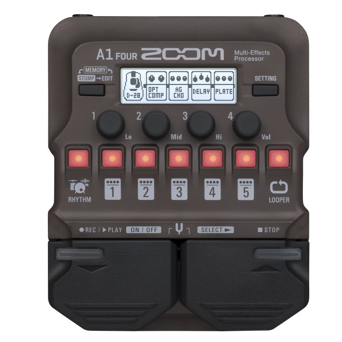 【DT】Zoom A1-FOUR アコースティック楽器用マルチエフェクター Acoustic Multi-Effects Processor
