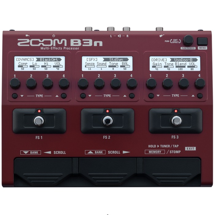 【DT】Zoom B3n マルチエフェクター Bass Multi-Effects Processor