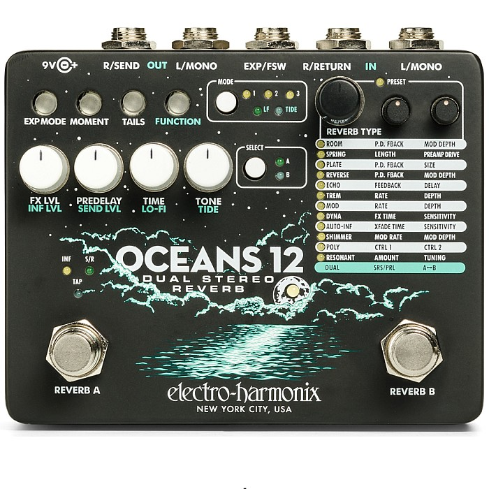 【DT】Electro-Harmonix Oceans 12 Dual Stereo Reverb リバーブ