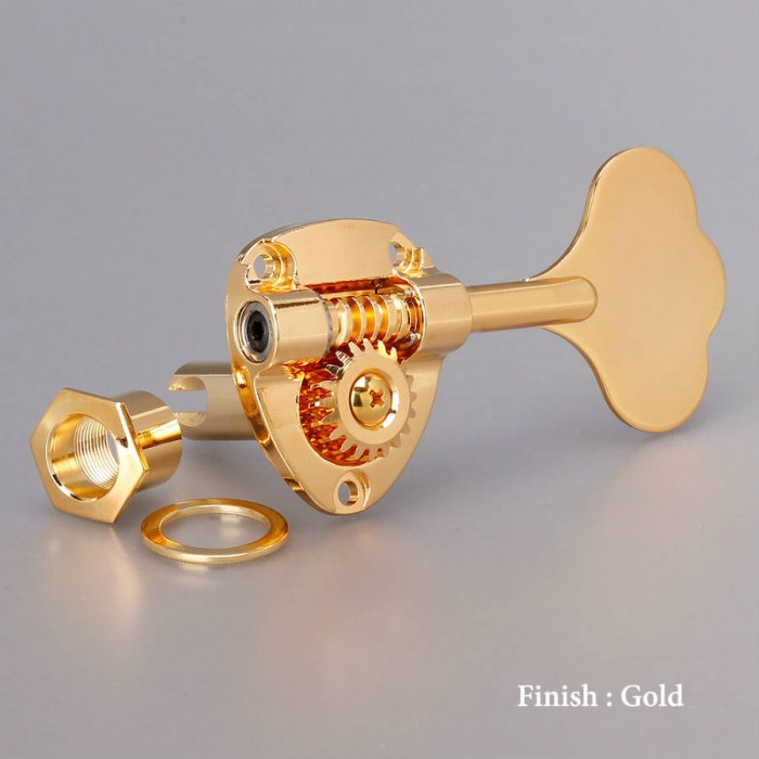 【DT】6弦ベース用 Gotoh GB11W-6-GG Gold ゴトー ベースペグ 左右振分け配列に対応