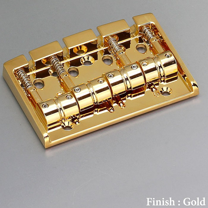 【DT】Gotoh 404BO-4-GG Gold ベースブリッジ ブラスサドル ゴールド