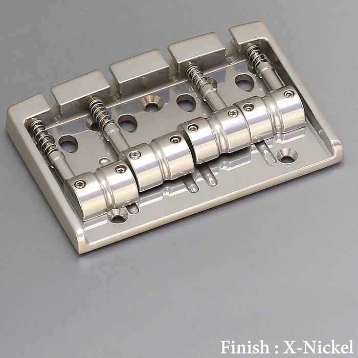 【DT】Gotoh 404BO-4-XN X-Nickel ベースブリッジ ブラスサドル エクセレントニッケル