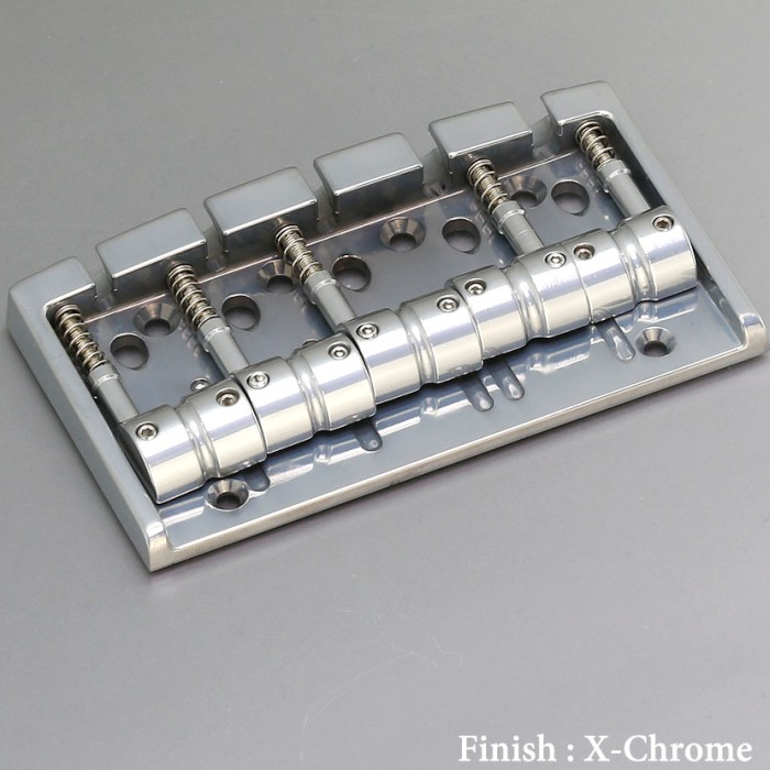 【DT】5弦用 Gotoh 404BO-5-XC X-Chrome ベースブリッジ ブラスサドル エクセレントクローム