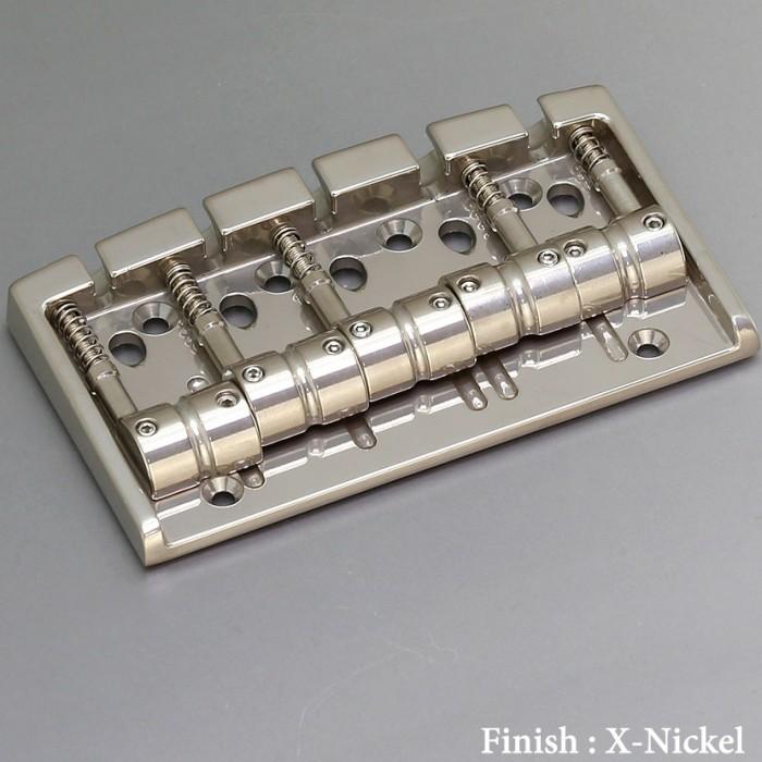 【DT】5弦用 Gotoh 404BO-5-XN X-Nickel ベースブリッジ ブラスサドル エクセレントニッケル