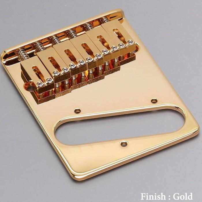 【DT】Gotoh GTC202-GG Gold テレキャスターブリッジ スチールサドル 10.8mm ゴールド