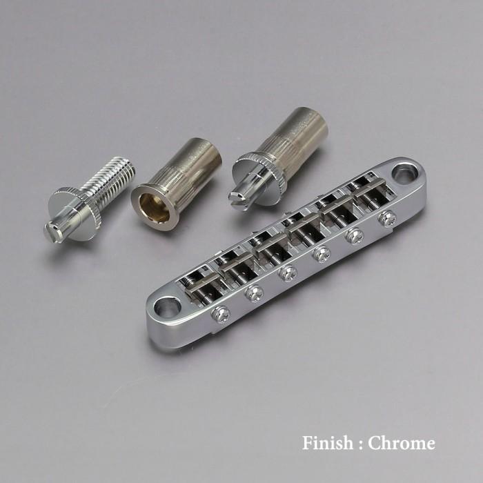 【DT】Gotoh Ti103B-T Chrome チタニウムサドル ブリッジ アンカー式ナッシュビルタイプ クローム