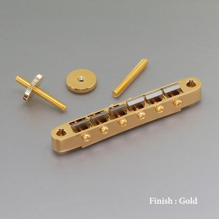 【DT】Gotoh Ti104B Gold チタニウムサドル ブリッジ セリアゲ式ナッシュビルタイプ ゴールド