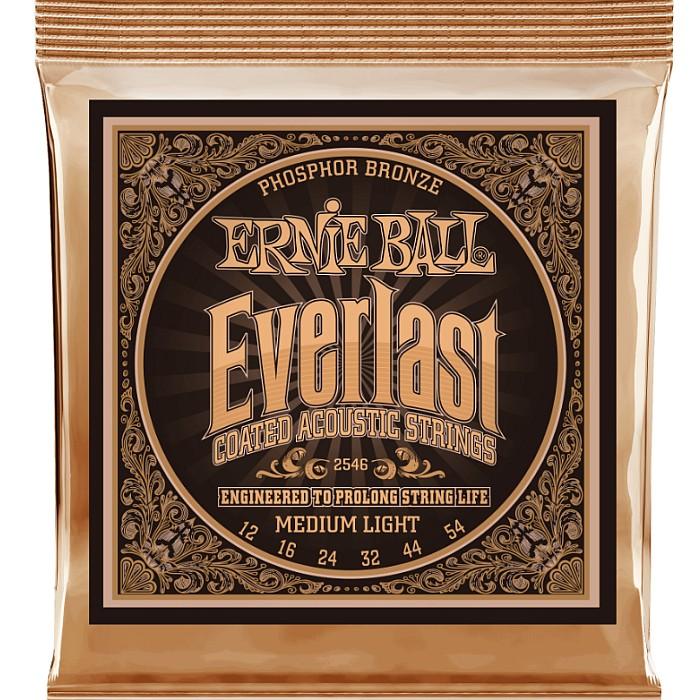Ernie Ball #2546 Everlast 特売 Coated 超目玉 Medium Light アーニーボール Bronze コーティング弦 アコギ弦 012-054 Phosphor
