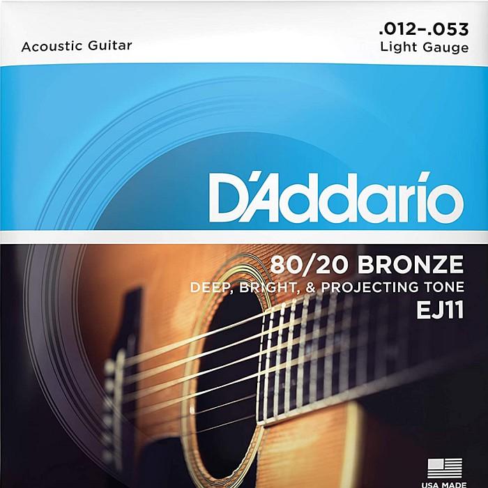 最新号掲載アイテム D'Addario EJ11 Light 012-053 80 Bronze アコギ弦 20 ダダリオ 通販 激安