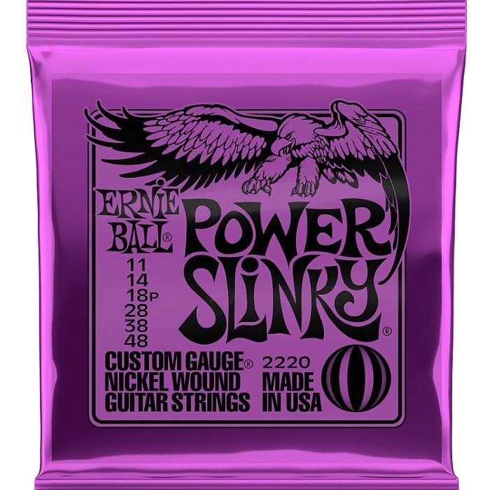 ERNIE BALL #2220 Power エレキギター弦 Slinky 高い素材 011-048 アーニーボール 在庫限り
