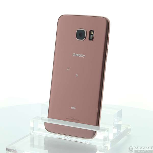 【中古】au GALAXY S7 edge 32GB ピンクゴールド SCV33 au 【291-ud】