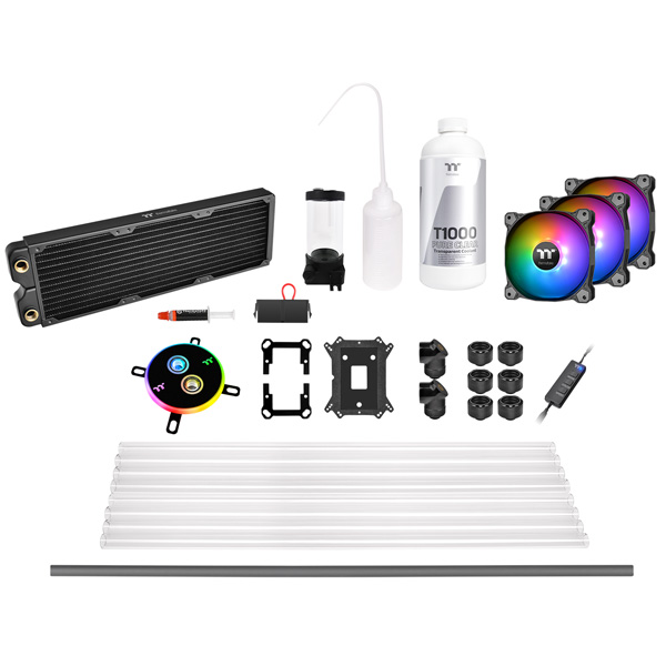 Thermaltake(サーマルテイク) Pacific C360 DDC Hard Tube Water Cooling Kit CL-W243-CU12SW-A (C360ラジエーターモデル) (CLW243CU12SWA) 【kk9n0d18p】