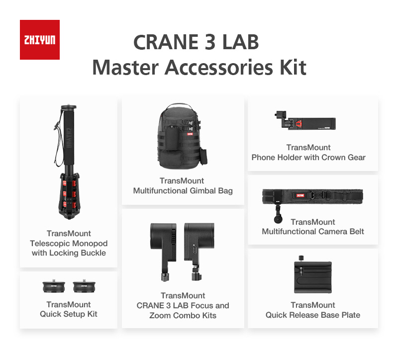 ZHIYUN Crane 3 Lab Master Accessories Kit (C000021E)