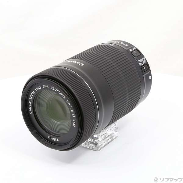 【中古】Canon(キヤノン) Canon EF-S 55-250mm F4-5.6 IS STM (レンズ) 【291-ud】