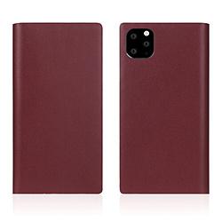 ROA iPhone11 ProMax Calf Skin Leather Diary Burgundy SD17965I65R