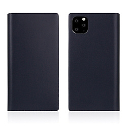 ROA iPhone11 ProMax Calf Skin Leather Diary Navy SD17967I65R