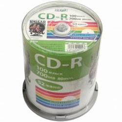 磁気研究所 HIDISC 直営店 HDCR80GP100 CD-R 店舗 52倍速 100枚スピンドル 700MB ワイドプリンタブル