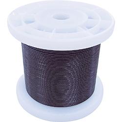 ニッサチェイン ニッサチェイン 黒コーティングワイヤロープ 1.5mm×100m 1巻 TSY15VBK