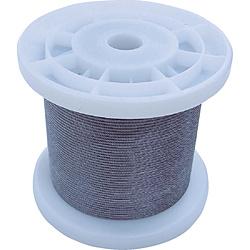 ニッサチェイン ニッサチェイン 透明コーティングワイヤロープ 1.5mm×100m 1巻 TSY15VCLR