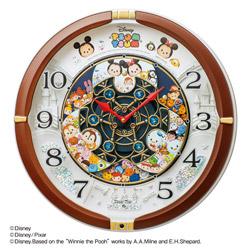 SEIKO からくり掛け時計「Disney Time(ディズニータイム)」 FW588B 茶メタリック FW588B