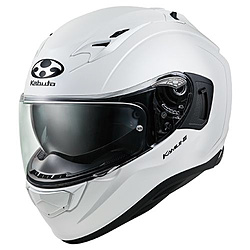 オージーケーカブト 584603 フルフェイスヘルメット KAMUI3 XS パールホワイト 584603