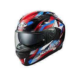 オージーケーカブト 587291 フルフェイスヘルメット KAMUI 3 STARS ブラックブルーレッド XL 587291