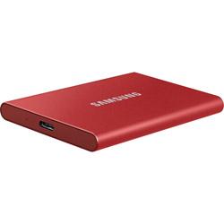 SAMSUNG(サムスン) MU-PC500R/IT 外付けSSD USB-C+USB-A接続 T7 メタリックレッド [ポータブル型 /500GB] MUPC500RT