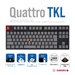 アーキサイト キーボード CHERRY MX 茶軸 AS-KBQ91/TGBA [USB /有線] ASKBQ91TGBA
