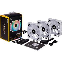 CORSAIR コルセア LL120 RGB White 好評 Triple Fan CO-9050092-WW CO9050092WW Kit ケースファン 120mm 360~2200rpm ●日本正規品●