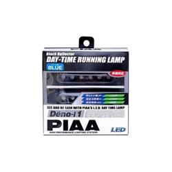 PIAA LEDデイタイムランプ 【Deno-i 1】 ブルー6連 12V 2個入リ L-221B L221B
