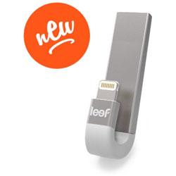 LEEF LIB300SW064A1 USBメモリ iBRIDGE シルバーホワイト [64GB /USB3.1 /USB TypeA+Lightning /キャップ式] LIB300SW064A1
