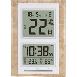 超特価SALE開催 アデッソ デジタル日めくり電波時計 日本メーカー新品 NA101MS 置き掛け兼用モデル