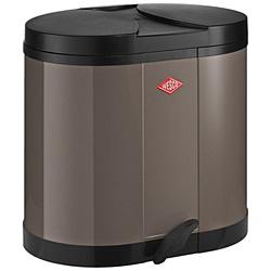 ウエスコ エコキッチンペダルビン&プラスチックライナー30L セパレートダブル ECO-DOUBLE BIN 170 ウォームグレー 170611-57 17061157