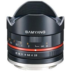 SAMYANG(サムヤン) 8mm F2.8 UMC FISH-EYEII ブラック [キヤノンEF-Mマウント] 対角線魚眼レンズ(MFレンズ) 8MMF28_2キヤノンMBK