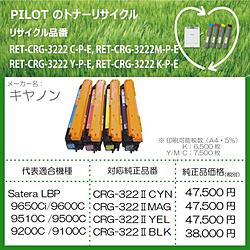 パイロット リサイクルトナー RET-CRG3222K-P-E ブラック RETCRG3222KPE