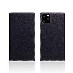 ROA iPhone11 Pro Full Grain Leather Case Black Blue SD17877I58R
