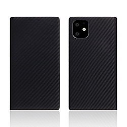 ROA iPhone11 carbon leather case Black SD17901I61R