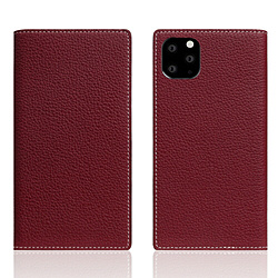 ROA iPhone11 ProMax Full Grain Leather Case Burgundy Rose SD17956I65R