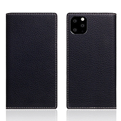 ROA iPhone11 ProMax Full Grain Leather Case Black Blue SD17959I65R