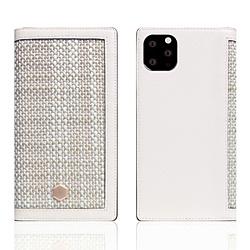 ROA iPhone11 ProMax Edition Calf Skin Leather Diary ホワイト SD17969I65R