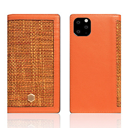 ROA iPhone11 ProMax Edition Calf Skin Leather Diary オレンジ SD17970I65R
